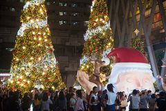 Celebración de la Navidad y del Año Nuevo en Bangkok Foto de archivo
