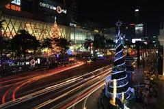Celebración de la Navidad y del Año Nuevo en Bangkok Imágenes de archivo libres de regalías