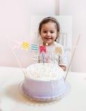 Celebración de la niña del cumpleaños Imagen de archivo