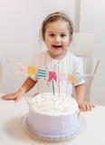 Celebración de la niña del cumpleaños Fotografía de archivo libre de regalías