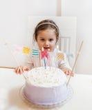 Celebración de la niña del cumpleaños Fotos de archivo