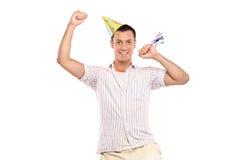 Celebración de la persona del partido Foto de archivo libre de regalías