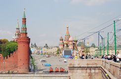Celebración de la primavera y del Día del Trabajo en Moscú Imagen de archivo