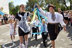 Celebración de la primera escuela bell_13 Foto de archivo