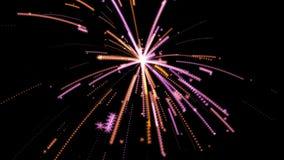 Celebración de las luces de los fuegos artificiales brillante almacen de metraje de vídeo