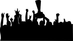 Celebración de las personas del campeonato stock de ilustración