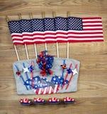 Celebración de los Estados Unidos de América para el objeto del Día de la Independencia Foto de archivo libre de regalías