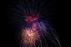 Celebración 657 de los fuegos artificiales fotografía de archivo