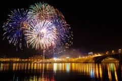 Celebración de los fuegos artificiales Fotografía de archivo libre de regalías