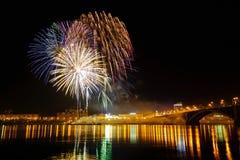 Celebración de los fuegos artificiales Imagenes de archivo