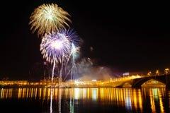 Celebración de los fuegos artificiales Foto de archivo libre de regalías
