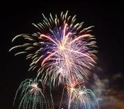 Celebración de los fuegos artificiales Fotos de archivo