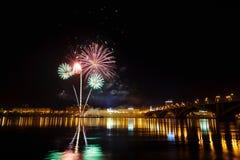 Celebración de los fuegos artificiales Imagen de archivo