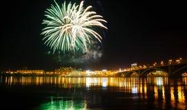 Celebración de los fuegos artificiales Foto de archivo