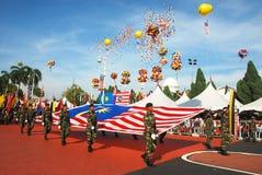 Celebración de Merdeka Fotos de archivo