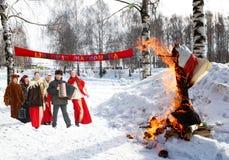 Celebración de Shrovetide Imagen de archivo libre de regalías