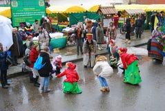 Celebración de Shrovetide en Moscú Imagen de archivo libre de regalías