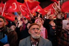 Celebración de Turquía del referéndum Fotos de archivo