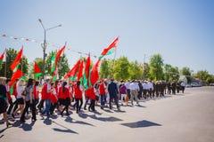 Celebración de Victory Day. GOMEL, BIELORRUSIA - 9 DE MAYO: Celebración Fotos de archivo libres de regalías