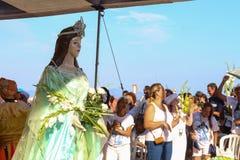 Celebración de Yemanja en Rio de Janeiro Imágenes de archivo libres de regalías