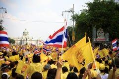 Celebración del 85o cumpleaños del rey tailandés Fotografía de archivo libre de regalías
