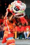Celebración del año de Lion Dance At Chinese New de las cosas Fotos de archivo libres de regalías