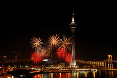 Celebración del Año Nuevo Foto de archivo libre de regalías