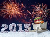 Celebración del Año Nuevo Imagen de archivo libre de regalías
