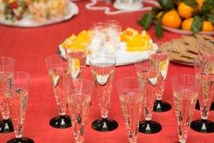Celebración del Año Nuevo, champán Imagen de archivo