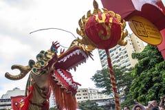 Celebración del Año Nuevo chino en el Brasil Fotos de archivo