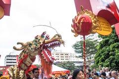 Celebración del Año Nuevo chino en el Brasil Foto de archivo