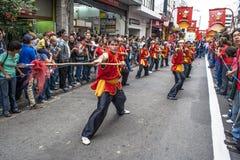 Celebración del Año Nuevo chino en el Brasil imagenes de archivo