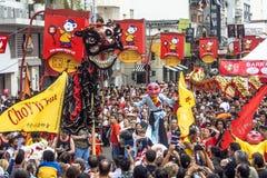 Celebración del Año Nuevo chino en el Brasil Foto de archivo libre de regalías