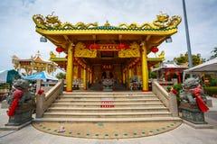 Celebración del Año Nuevo chino en el templo Saphan Hin Imagen de archivo libre de regalías