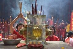 Celebración del Año Nuevo chino en la ciudad de Semarang Fotografía de archivo libre de regalías