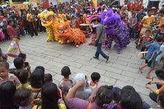 Celebración del Año Nuevo chino en la ciudad de Semarang Imagen de archivo libre de regalías