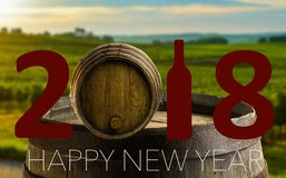 Celebración del Año Nuevo con el vino 2018 Imagenes de archivo