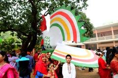 Celebración 1422 del Año Nuevo de Bangladesh Imágenes de archivo libres de regalías