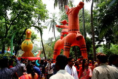 Celebración 1422 del Año Nuevo de Bangladesh Fotos de archivo