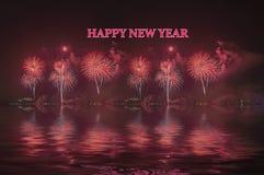 Celebración del Año Nuevo de los fuegos artificiales Foto de archivo