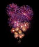 Celebración del Año Nuevo de los fuegos artificiales Imagen de archivo