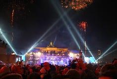 Celebración del Año Nuevo en Berlín Imágenes de archivo libres de regalías