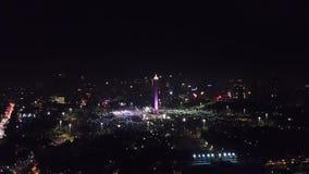 Celebración 2018 del Año Nuevo en el monumento nacional almacen de metraje de vídeo
