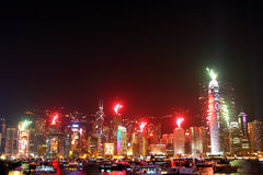 Celebración del Año Nuevo en Hong-Kong 2011 Fotografía de archivo