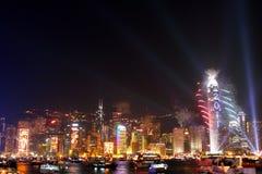 Celebración del Año Nuevo en Hong-Kong 2011 Imagenes de archivo