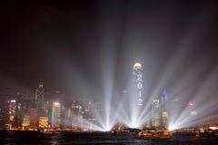Celebración del Año Nuevo en Hong-Kong 2012 Fotos de archivo libres de regalías
