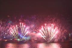 Celebración del Año Nuevo en Hong Kong 2016 Imagen de archivo