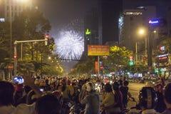 Celebración del Año Nuevo en la ciudad de Ho Chi Minh Fotos de archivo libres de regalías
