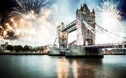 celebración del Año Nuevo en Londres, Reino Unido Fotografía de archivo libre de regalías