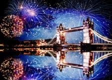 celebración del Año Nuevo en Londres, Reino Unido Foto de archivo libre de regalías